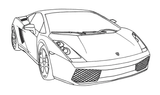 Imprimer le coloriage : Porsche, numéro 148306