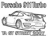 Imprimer le coloriage : Porsche, numéro 30a7a64e