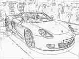 Imprimer le coloriage : Porsche, numéro 53674