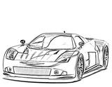 Imprimer le coloriage : Porsche, numéro e54893fd