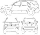 Imprimer le coloriage : Toyota, numéro 105342
