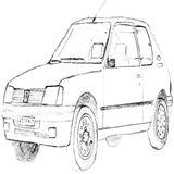 Imprimer le coloriage : Toyota, numéro 29bc3a