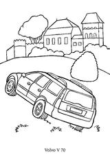 Imprimer le coloriage : Volvo, numéro 106456