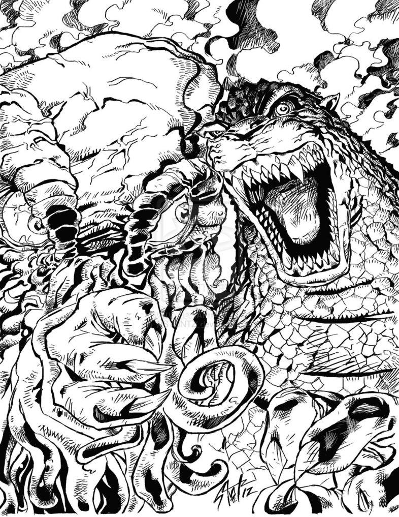 Godzilla Coloriage - OHBQ.info