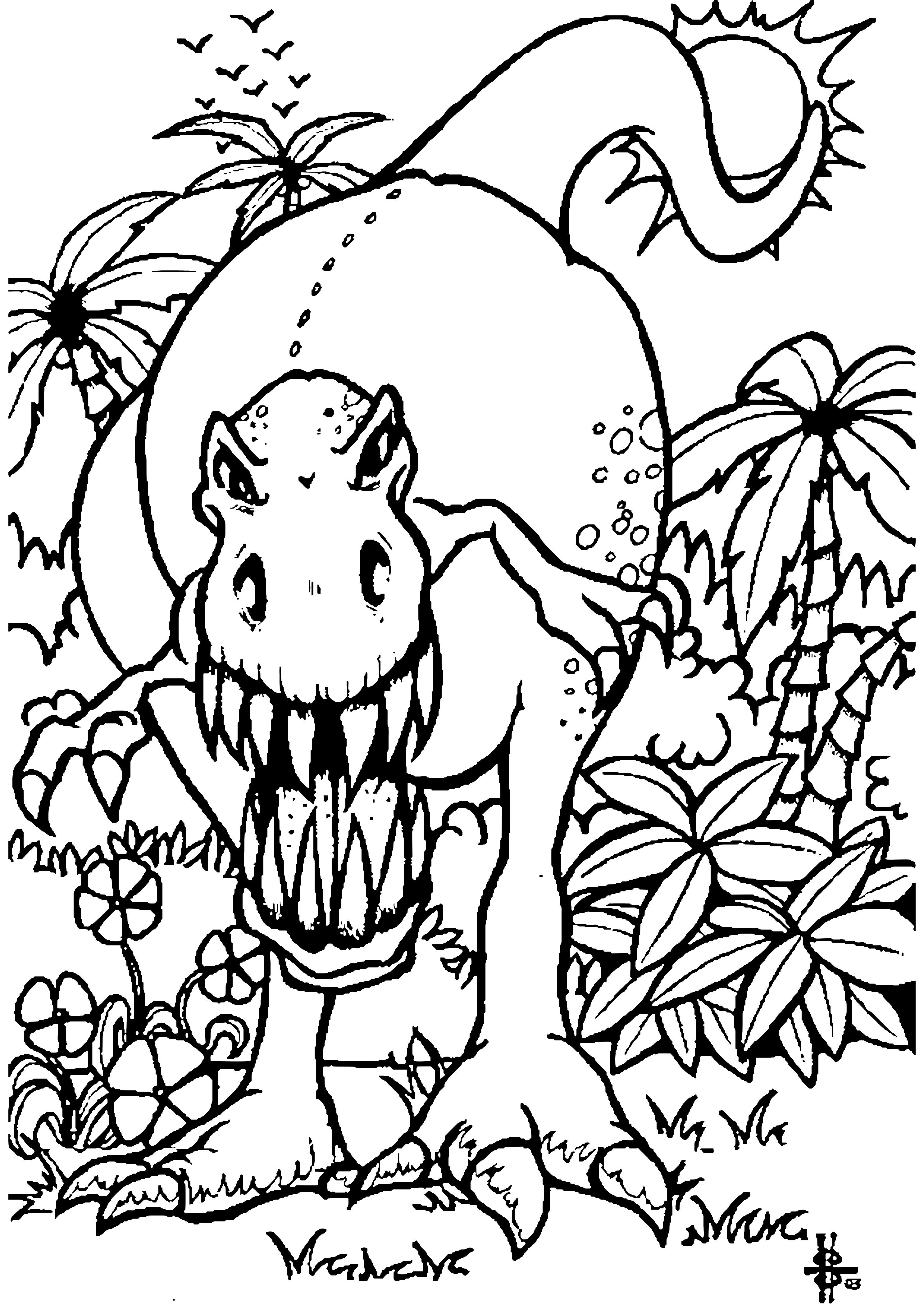 Dessin T Rex Mignon - Coloriage Dinosaure T-Rex à imprimer ...