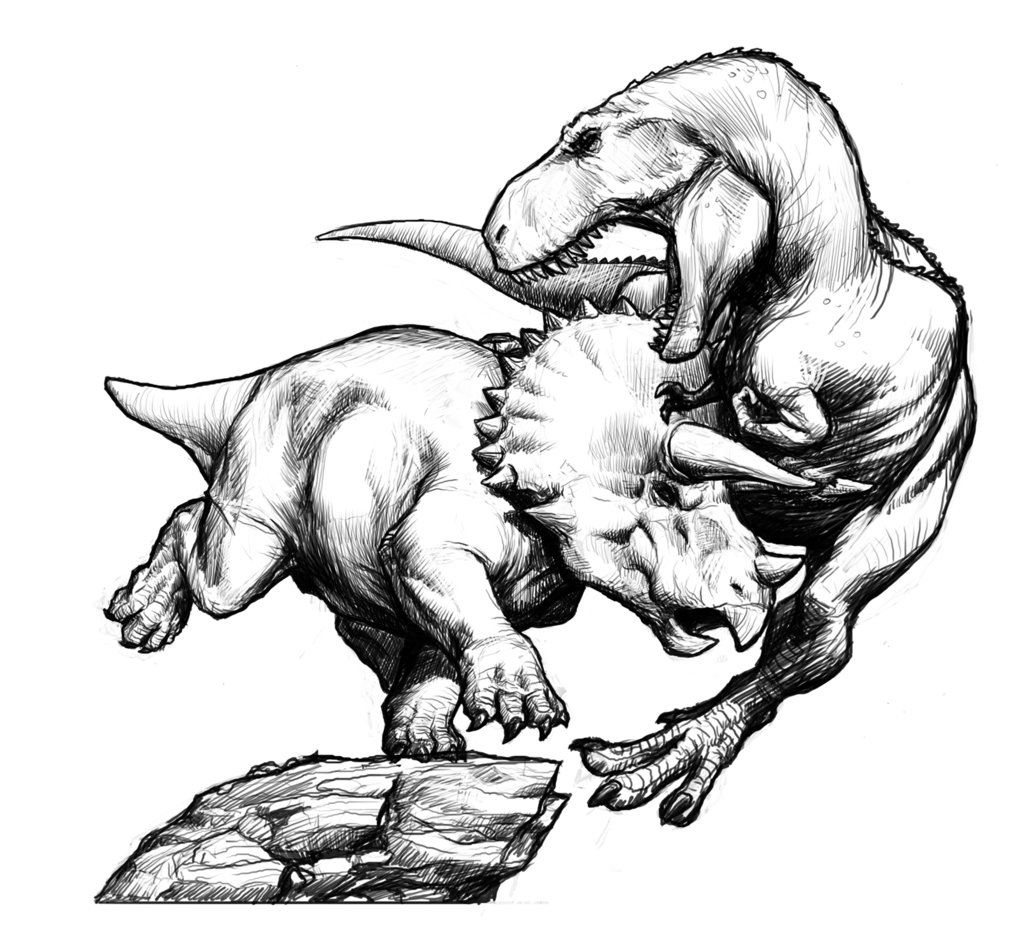 Coloriages A Imprimer Triceratops Numero 220205