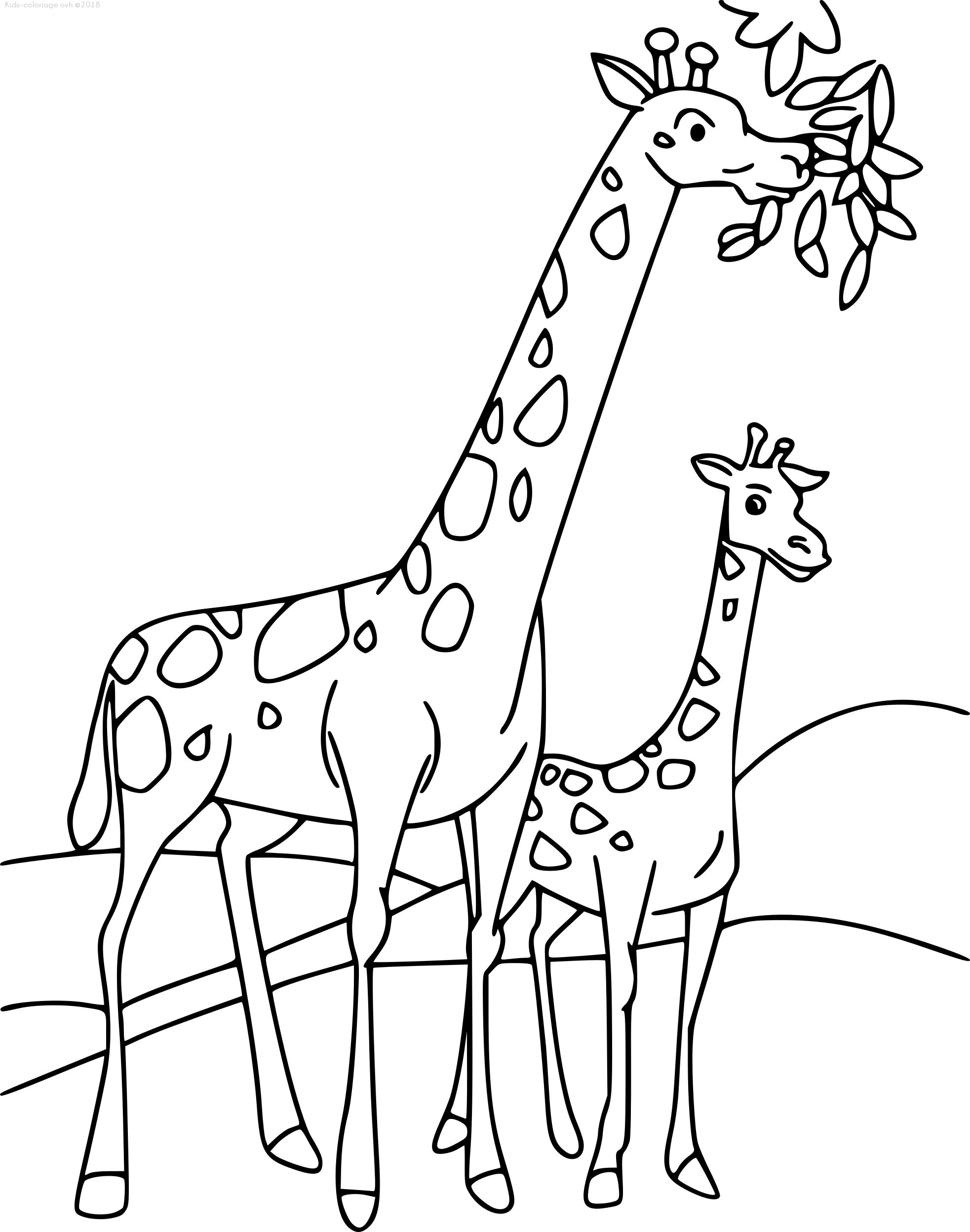 Coloriage Voiture Girafe.Coloriages A Imprimer Girafe Numero Ff23f4c8