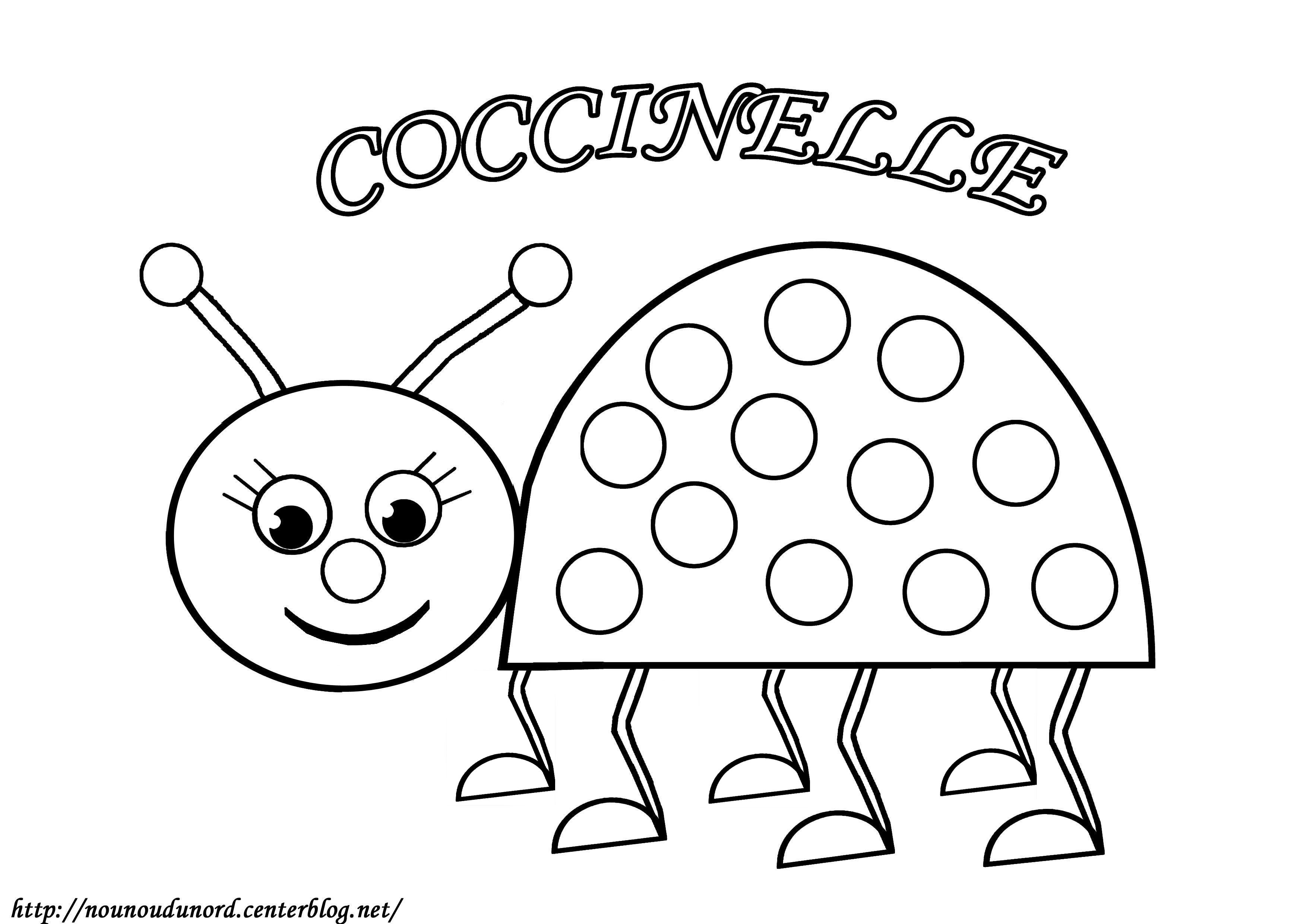 Coloriage Coccinelle Et Papillon.Coloriages A Imprimer Coccinelle Numero 19d97915