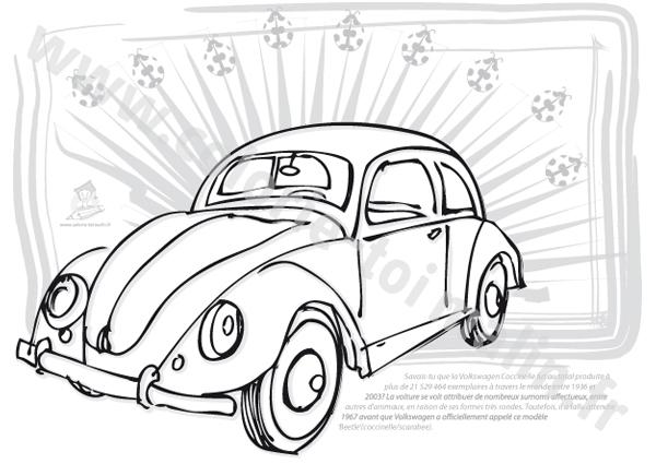 Coloriage Coccinelle Volkswagen.Dessins En Couleurs A Imprimer Coccinelle Numero 22543
