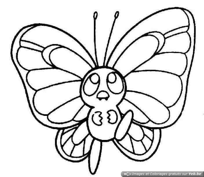 Coloriages A Imprimer Papillon Numero 24063