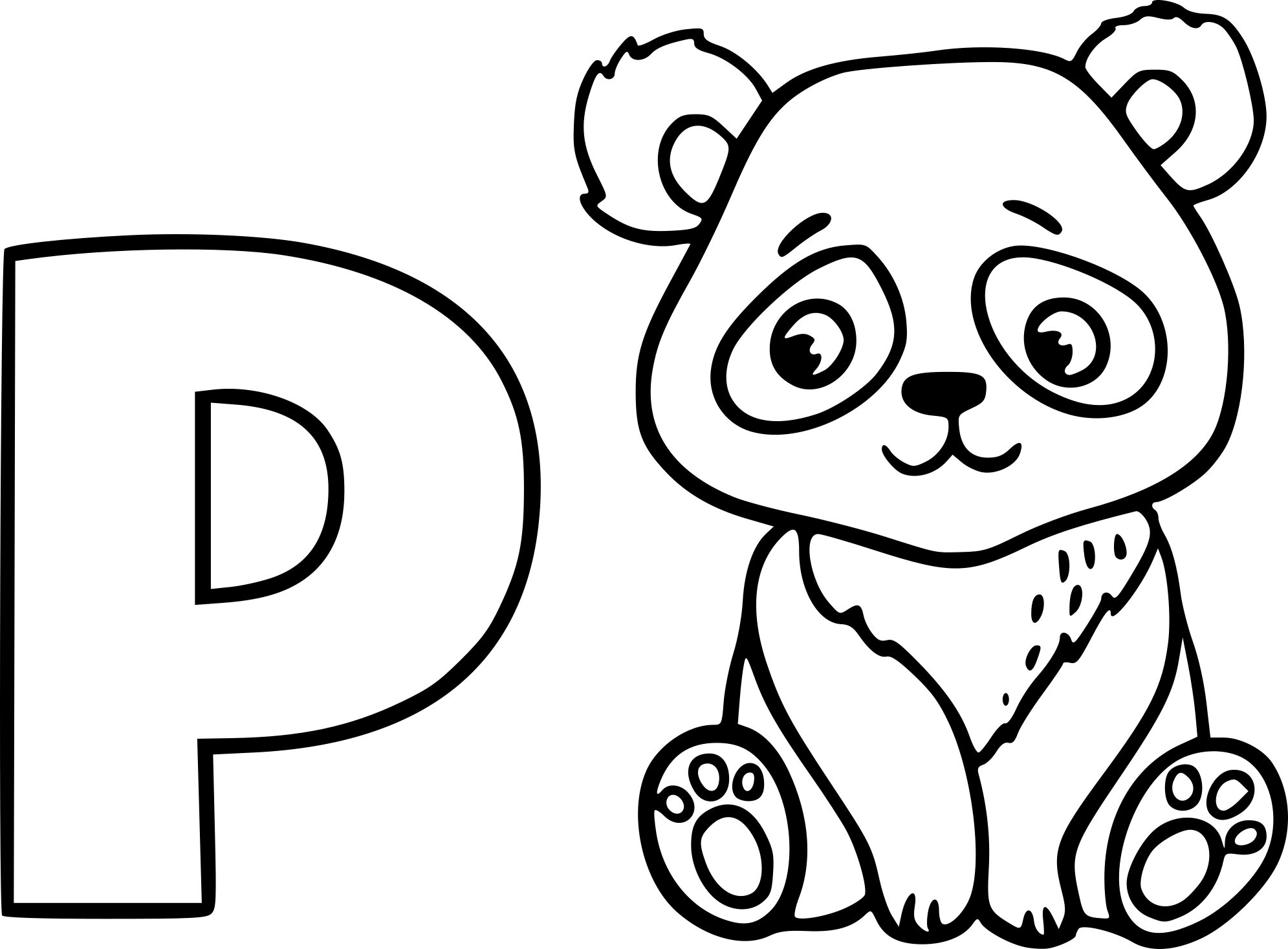 Coloriages A Imprimer Panda Numero 14839472