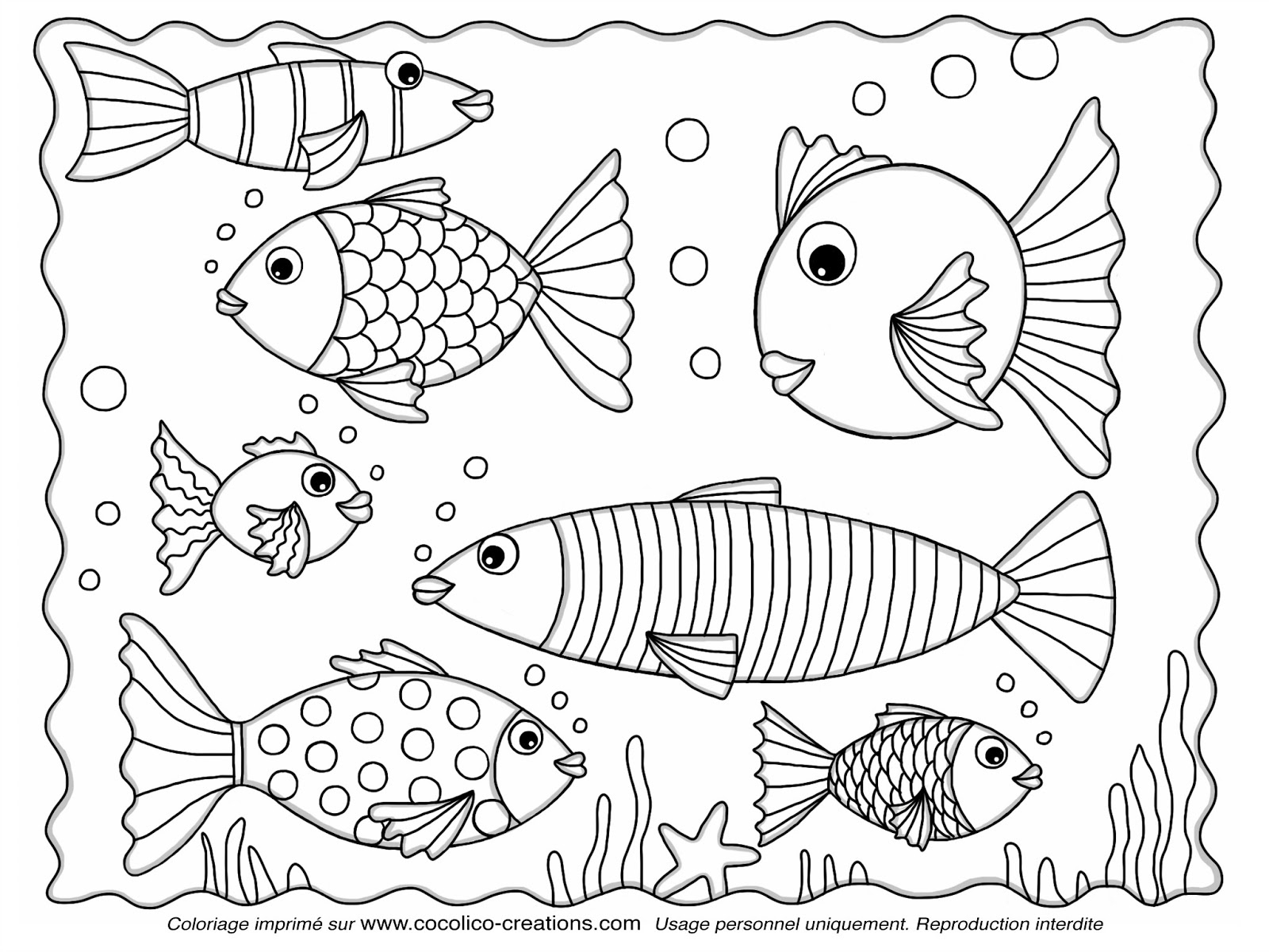 Coloriages à imprimer : Poisson, numéro : 127e19e5