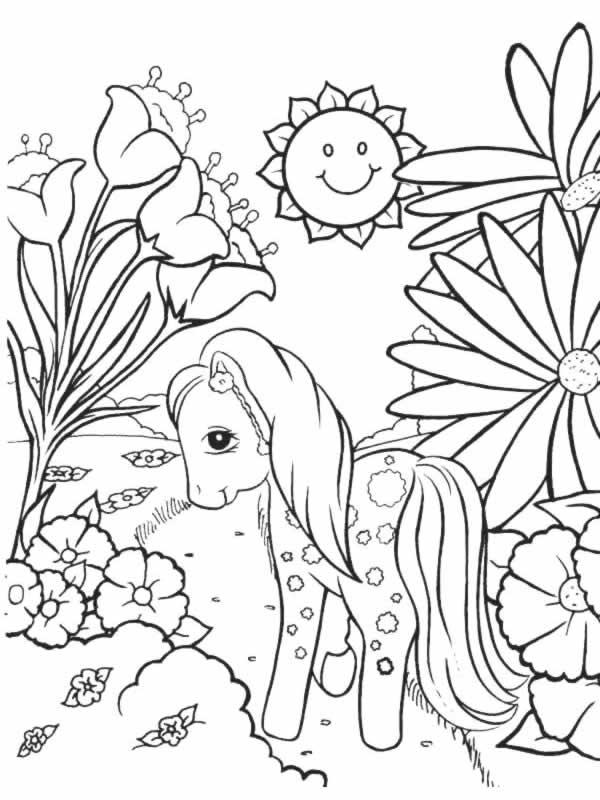 Coloriages à imprimer : Poney, numéro : 17078