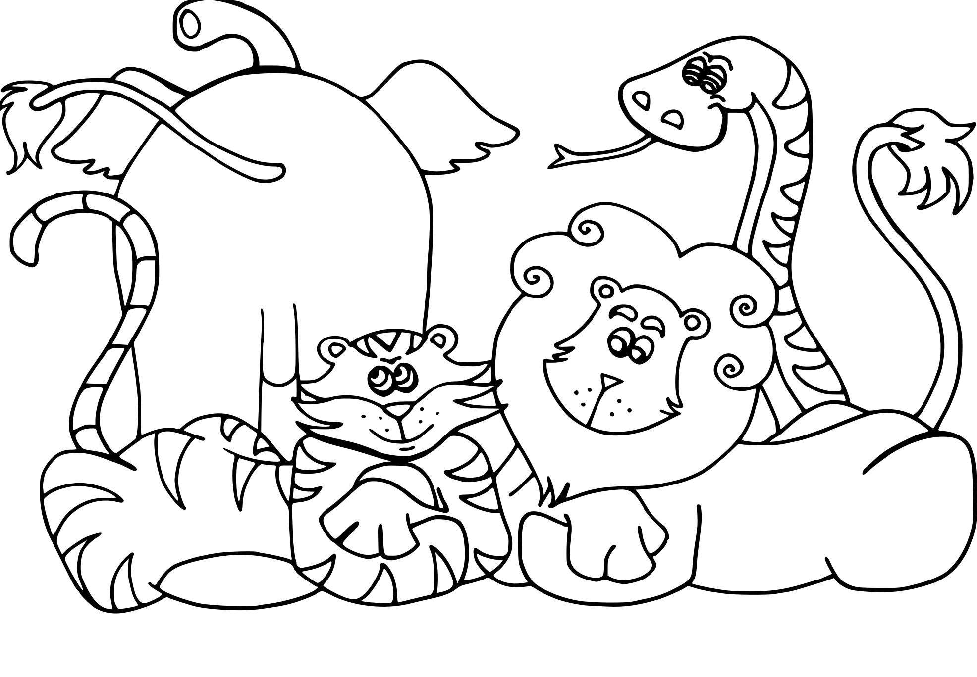 Coloriages à imprimer : Animaux, numéro : aeebc34b
