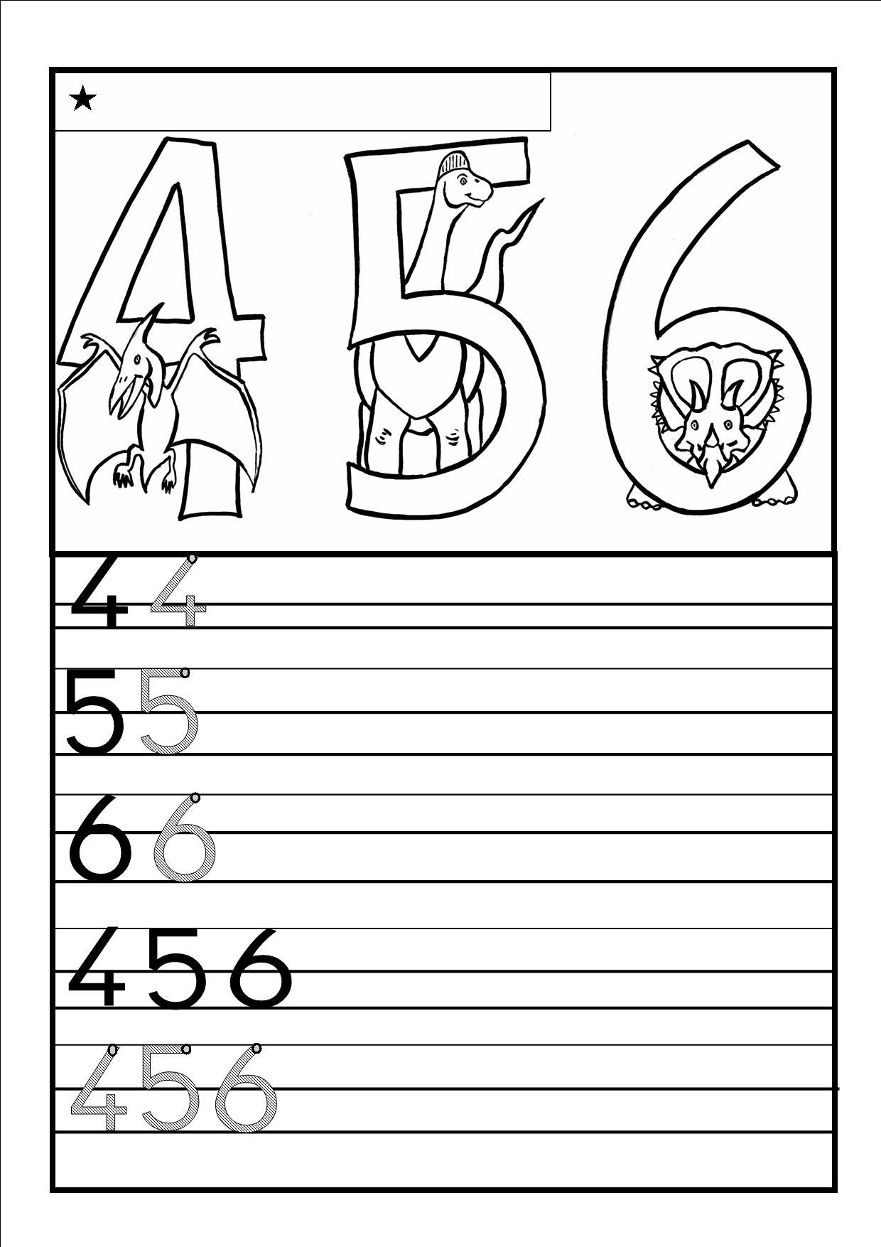 Coloriages à imprimer : Chiffres et formes, numéro : 113271