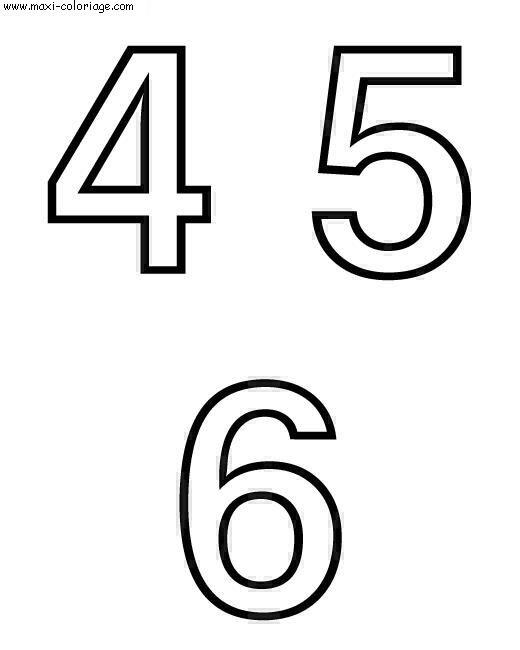 Coloriages à imprimer : Chiffres et formes, numéro : 1320