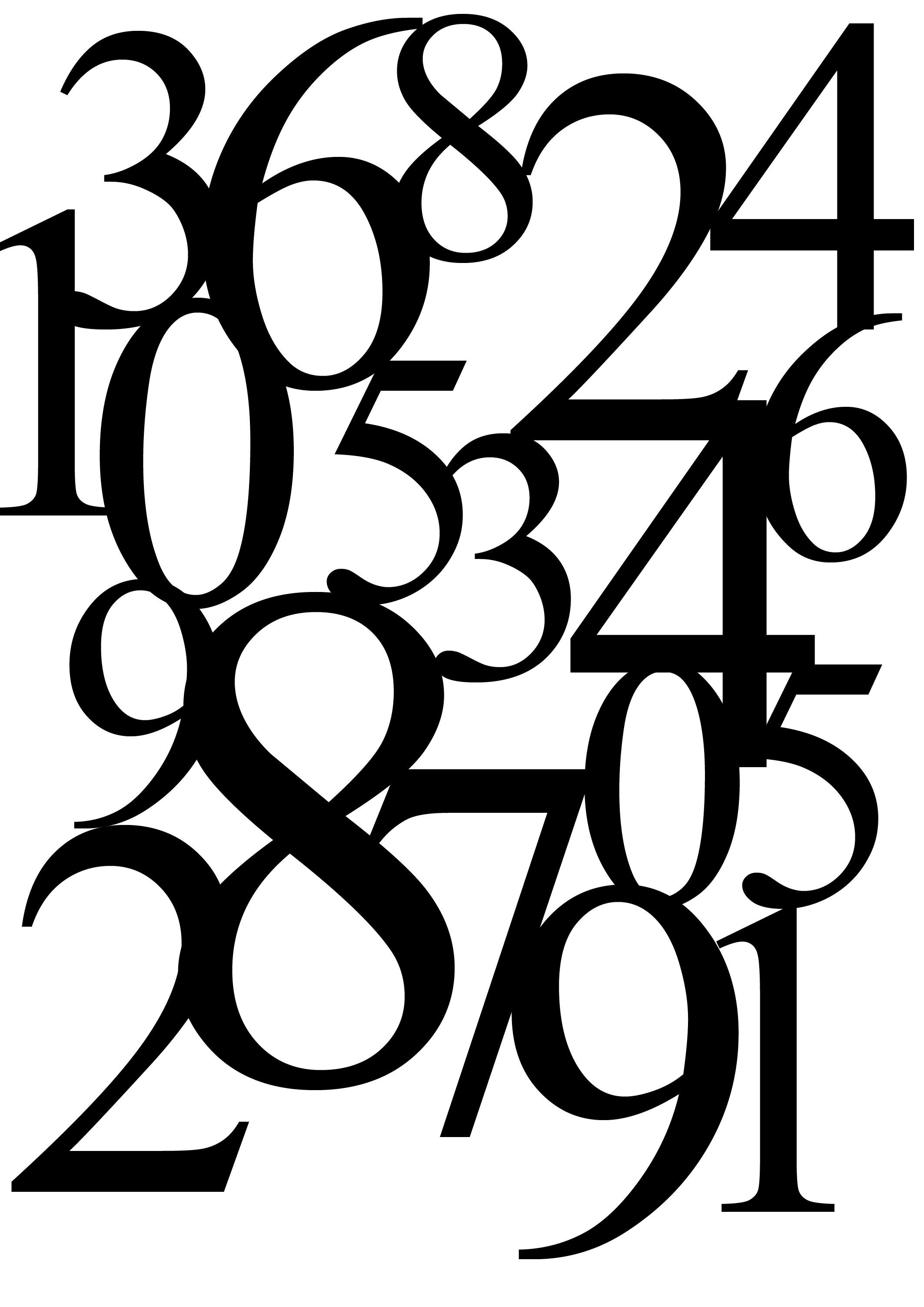 Coloriages à imprimer : Chiffres et formes, numéro : 1544