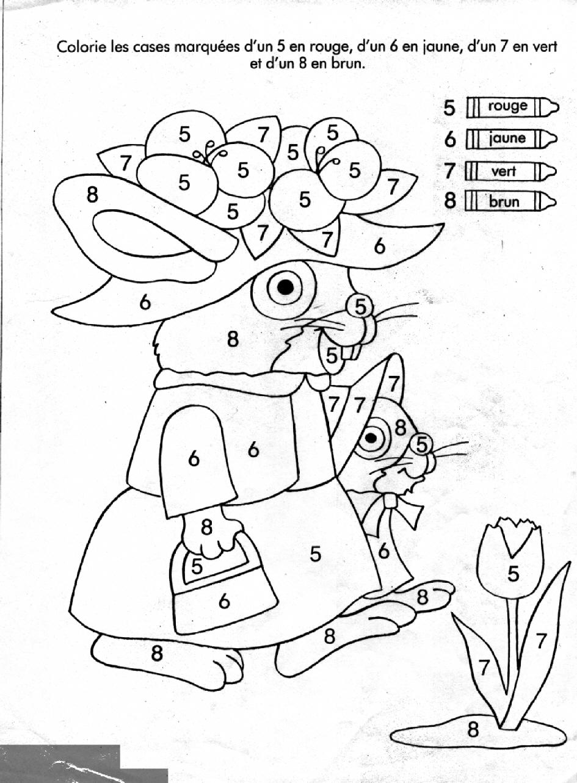 Coloriages à imprimer : Chiffres et formes, numéro : 1550