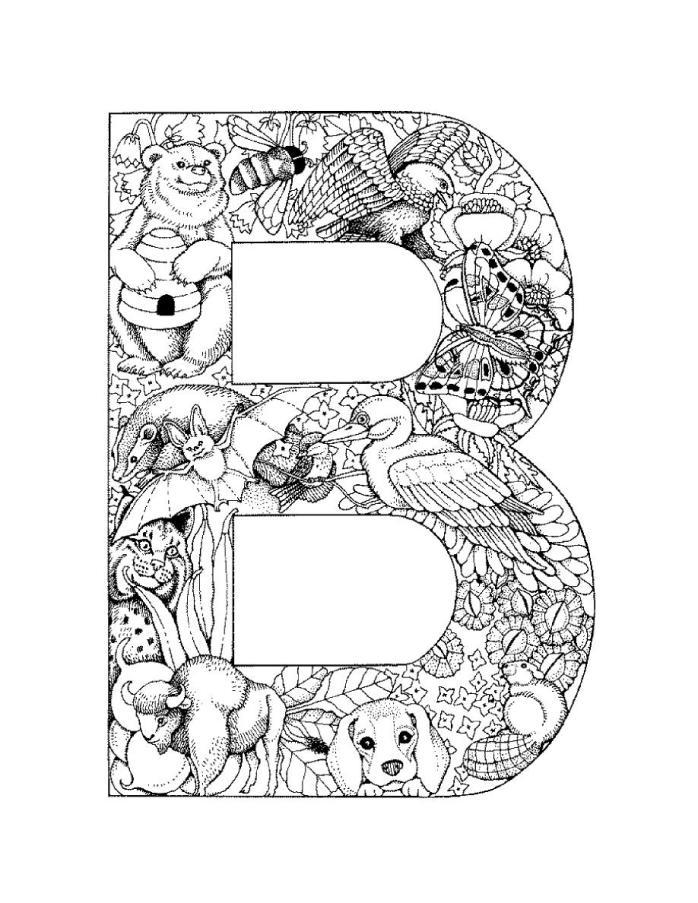 Coloriages 224 Imprimer Lettre B Num 233 Ro 285750