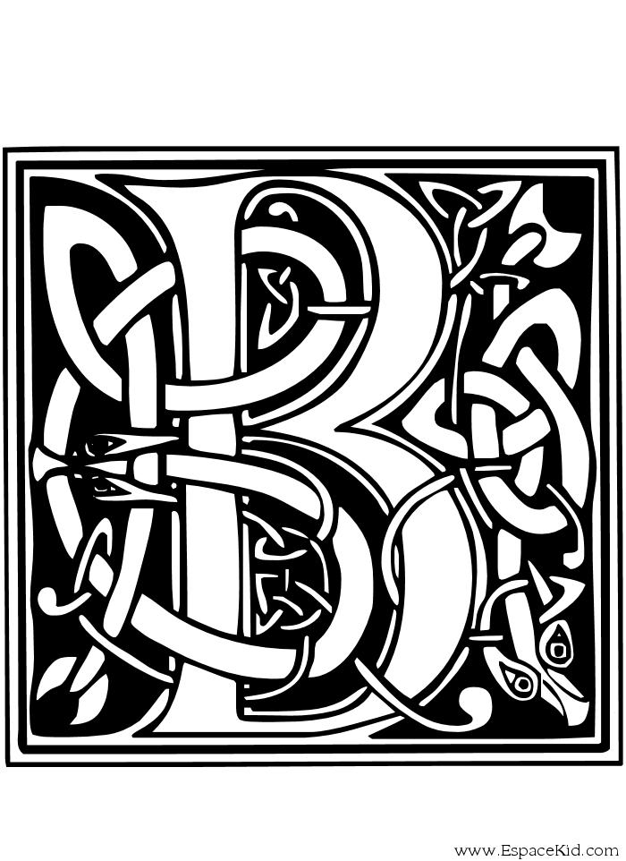 Coloriages à imprimer : Lettre b, numéro : 52758