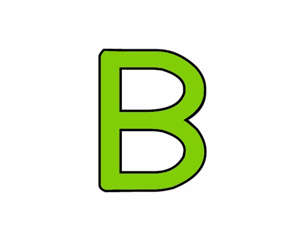 Dessins en couleurs à imprimer : Lettre b, numéro : 76696
