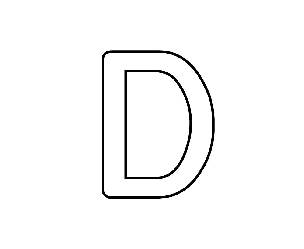 Coloriages A Imprimer Lettre D Numero 342337
