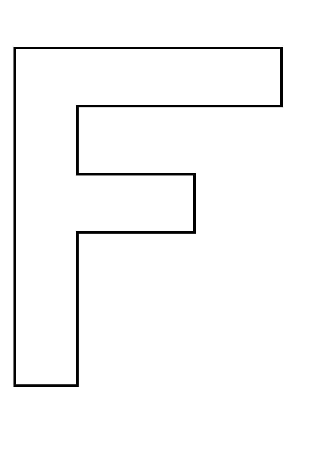 Coloriages à imprimer : Lettre f, numéro : 353439
