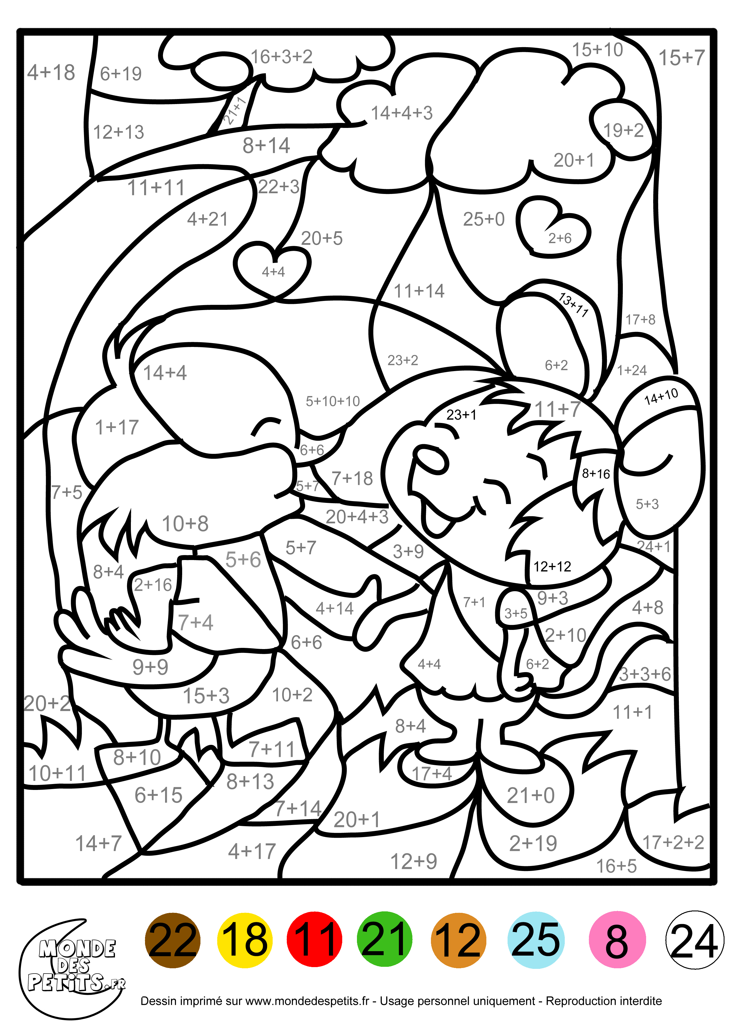 Dessins en couleurs à imprimer : Coloriages magiques, numéro : 689789