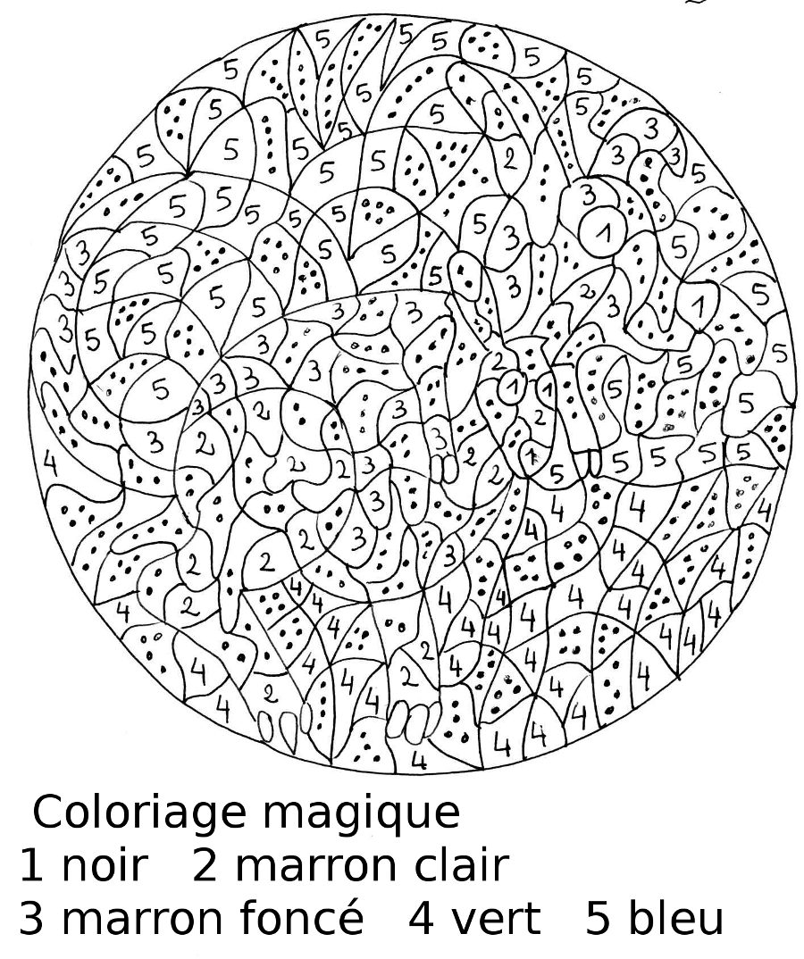Coloriages à imprimer : Coloriages magiques, numéro : 758796
