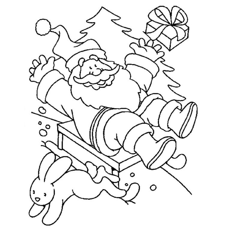 Coloriages à imprimer : Père Noël, numéro : 44766