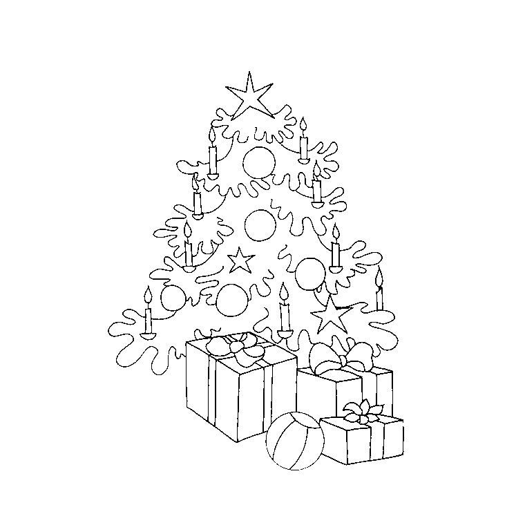 Coloriages à Imprimer Sapin De Noël Numéro 57211