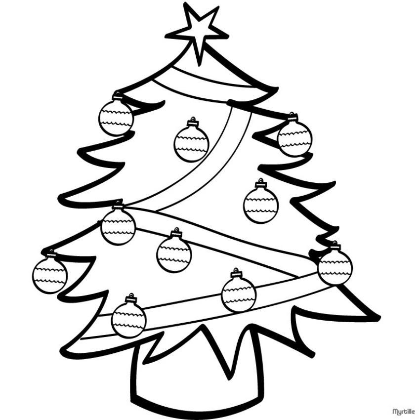Coloriages à Imprimer Sapin De Noël Numéro 621280