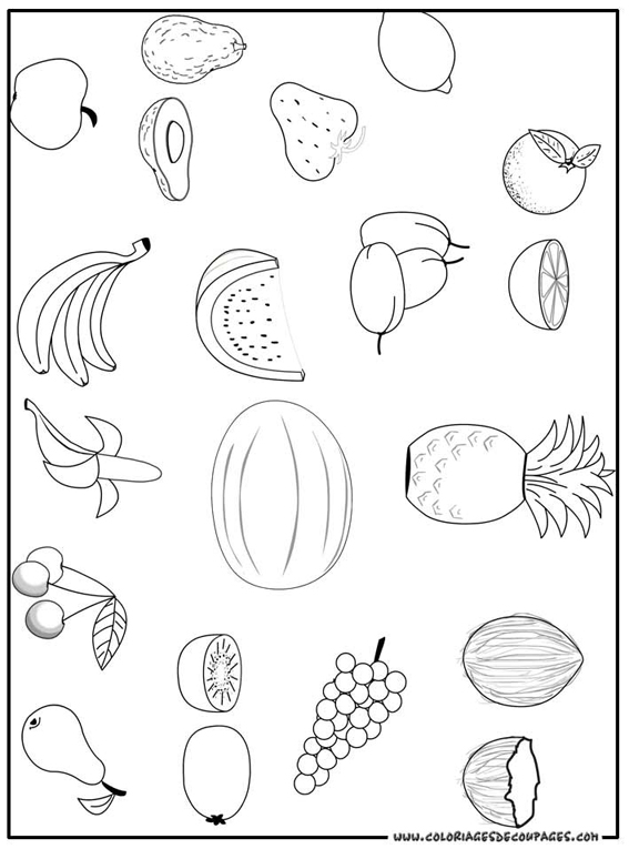 Coloriage Les Fruits.Coloriages A Imprimer Fruits Numero 755630