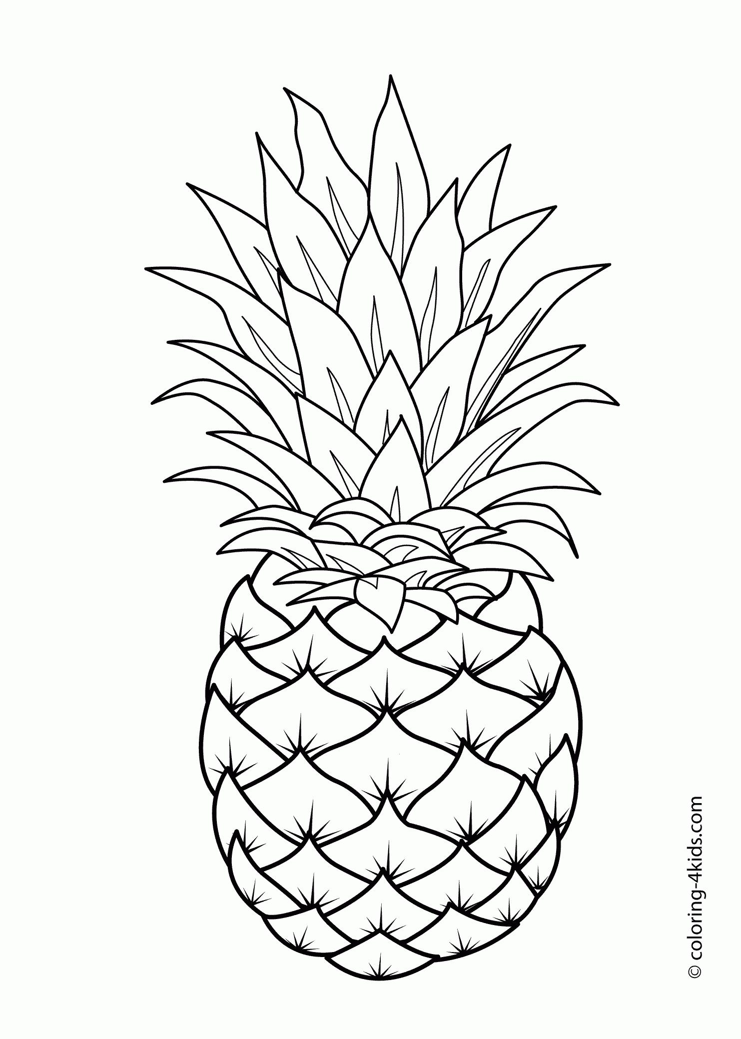 Coloriages à Imprimer Ananas Numéro 57d5eeca