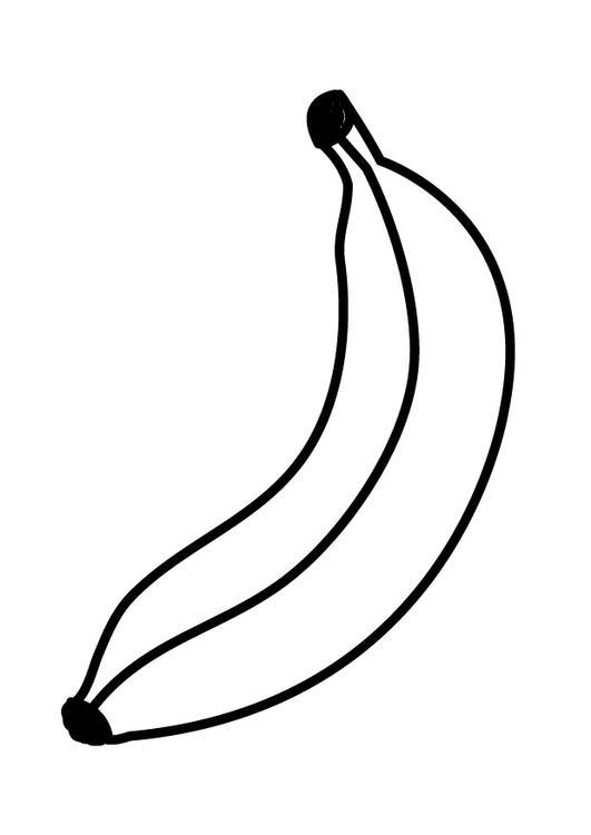 Coloriages à imprimer : Banane, numéro : 28224