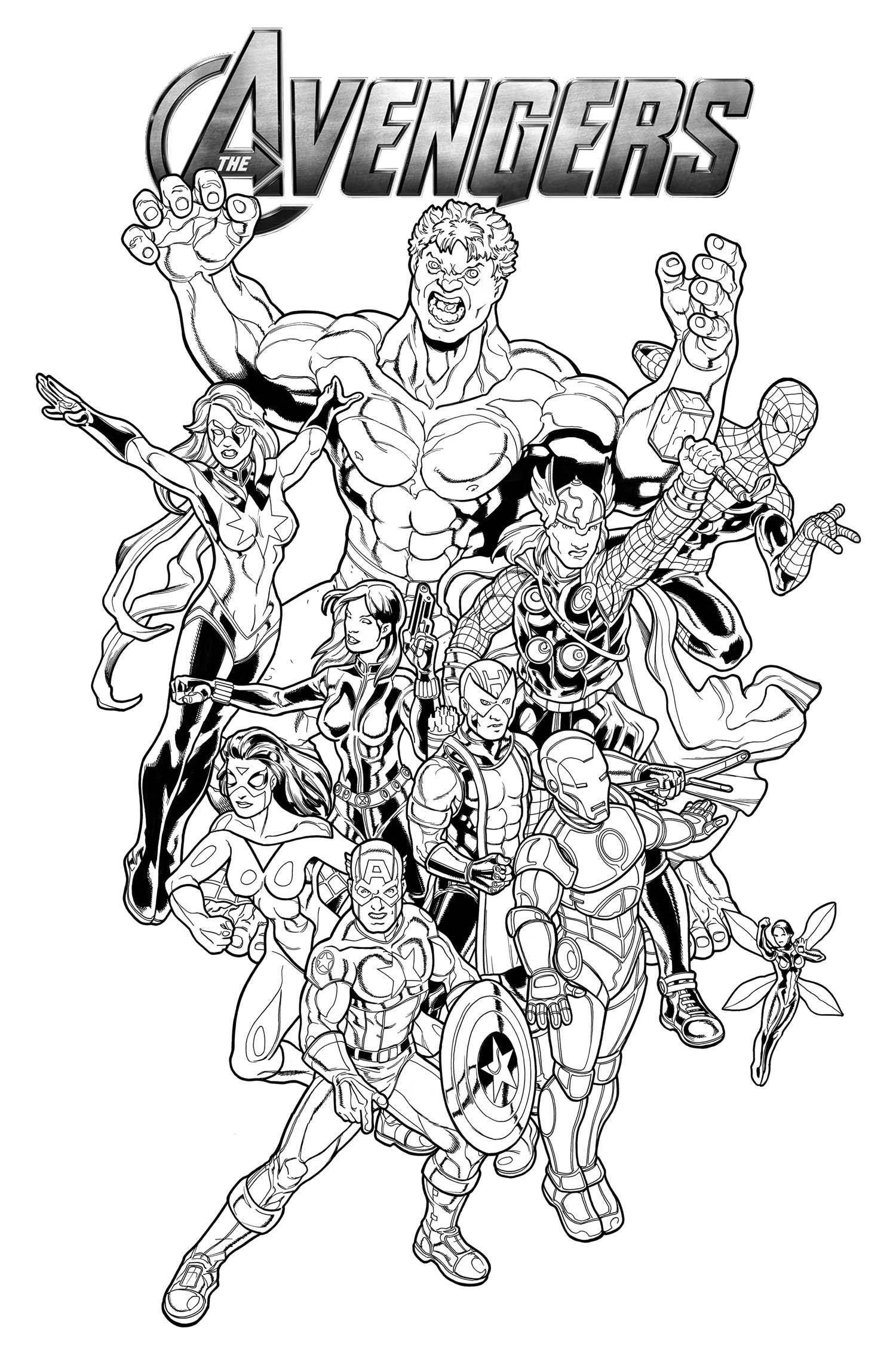 Coloriages à imprimer : Avengers, numéro : 115569f9