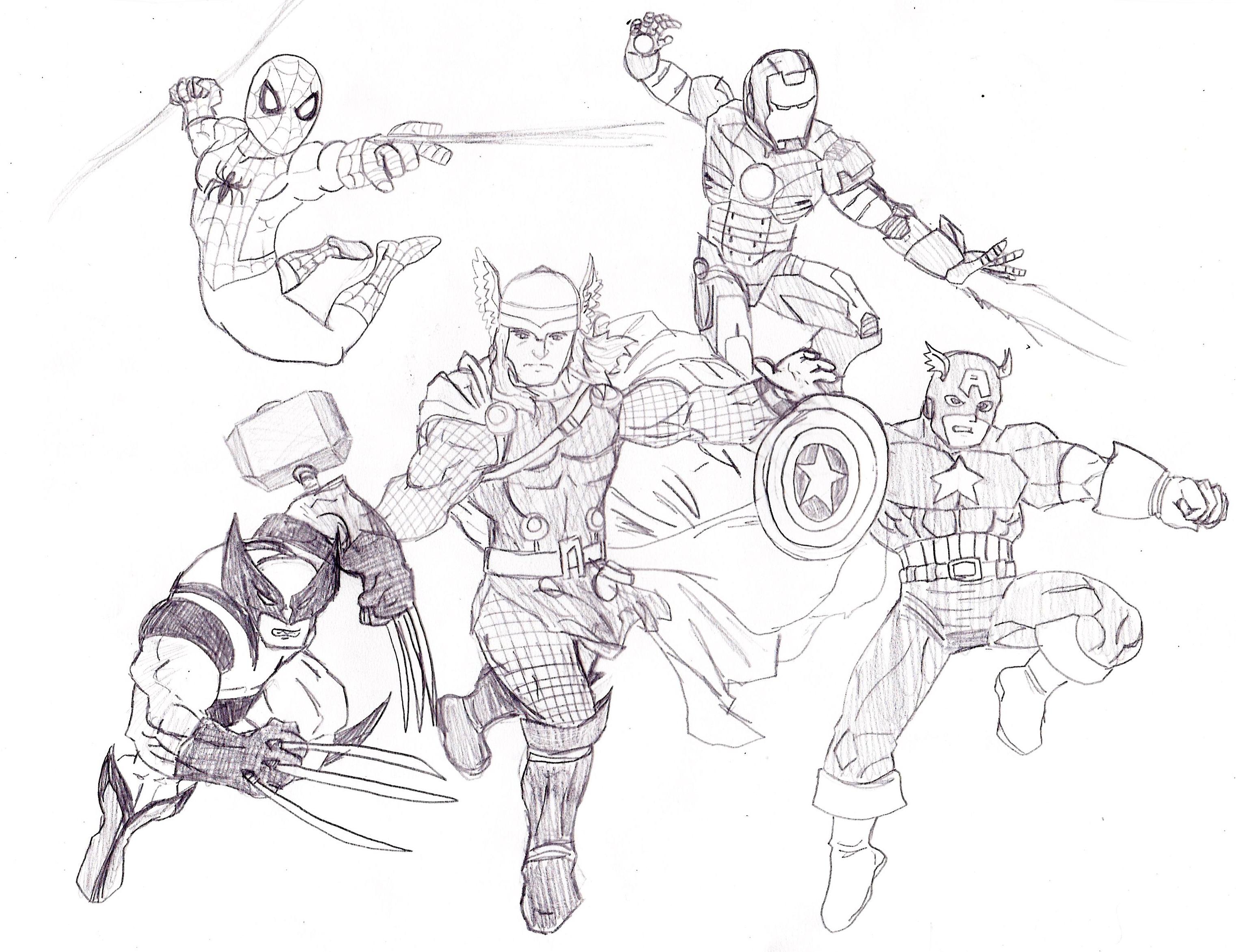 Coloriages à imprimer : Avengers, numéro : 194b68d7