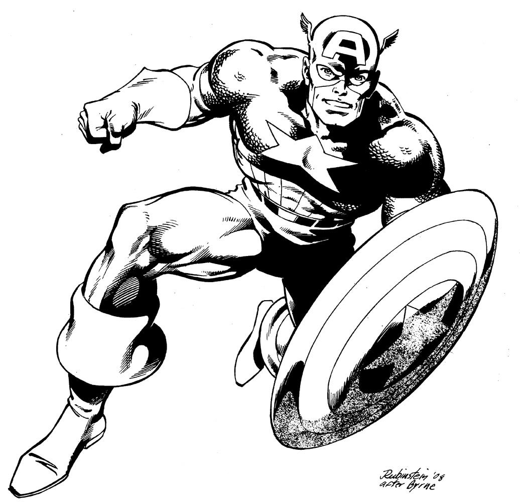 Coloriages à imprimer : Captain America, numéro : 146573