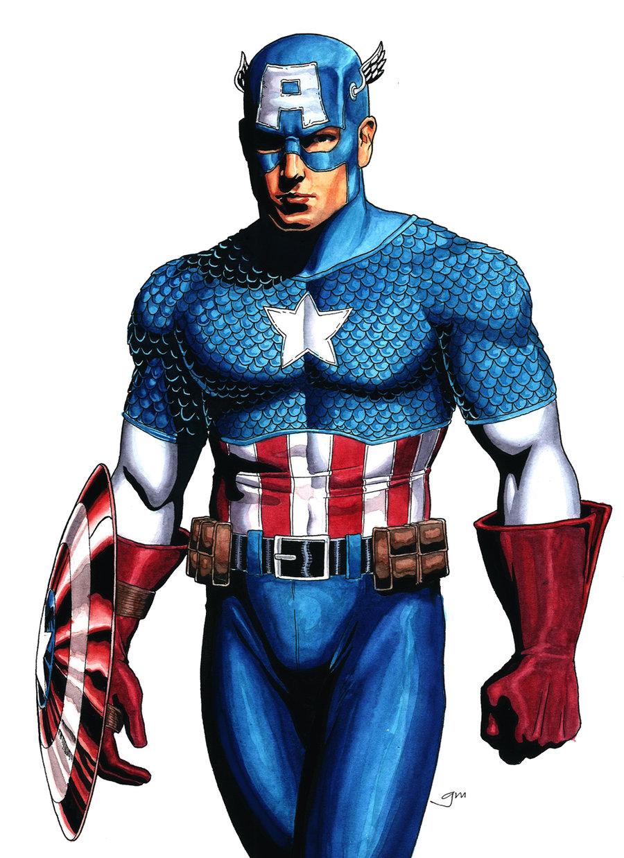 Dessins En Couleurs à Imprimer Captain America Numéro