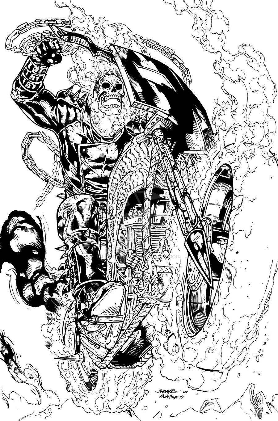 Coloriages à imprimer : Ghost Rider, numéro : 17931