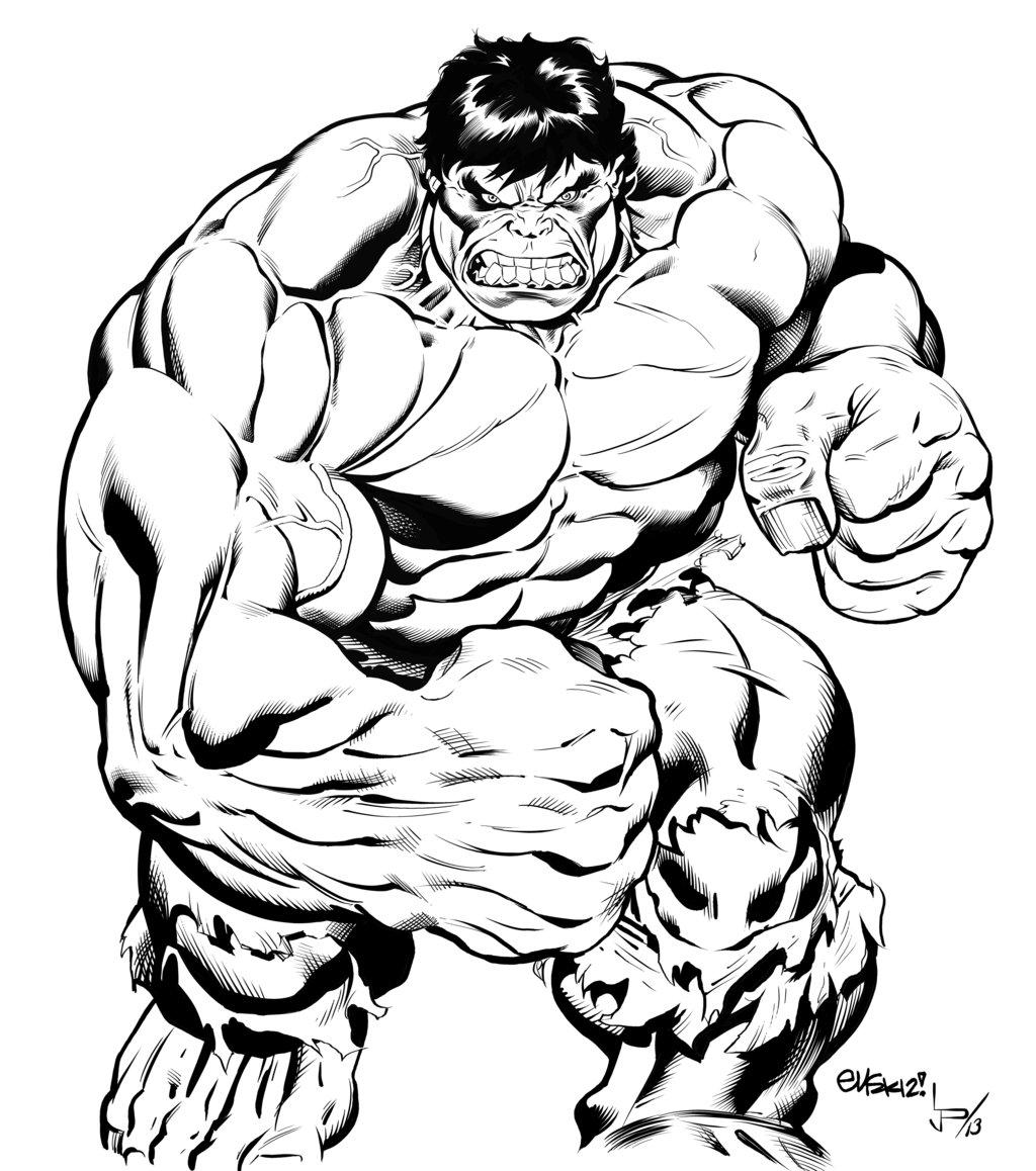Coloriages à imprimer : Hulk, numéro : 154393e7