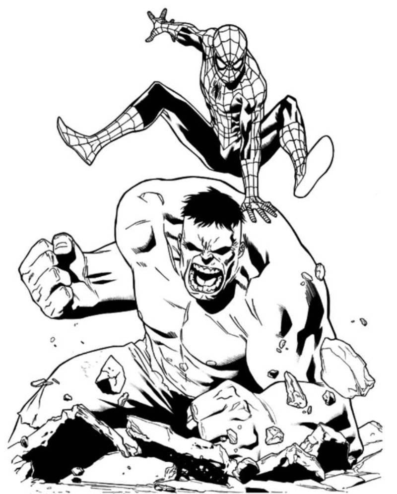 Coloriages à imprimer : Hulk, numéro : 4eaed0d4