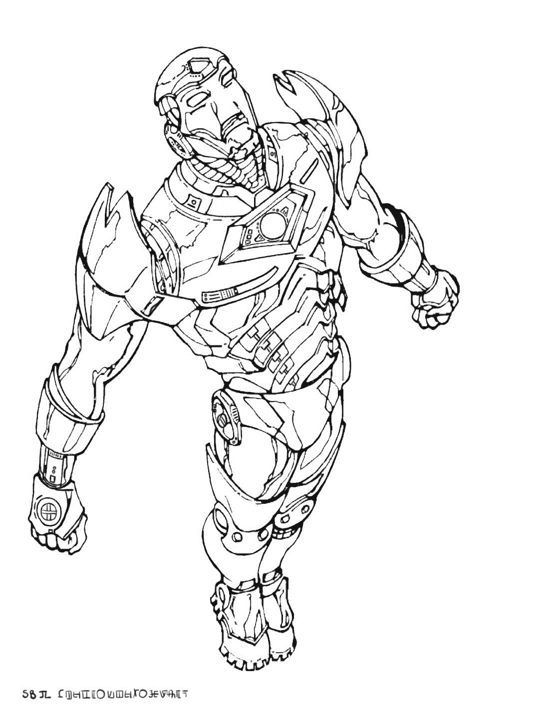 War Machine Marvel Kleurplaat Ausmalbild: Iron Man Ist Bereit Ausmalbilder Kostenlos ...