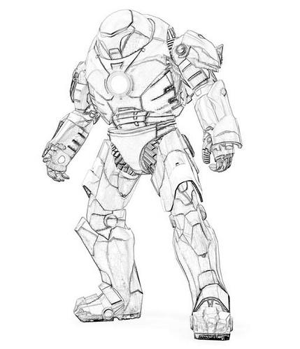 Coloriages A Imprimer Iron Man Numero 1025