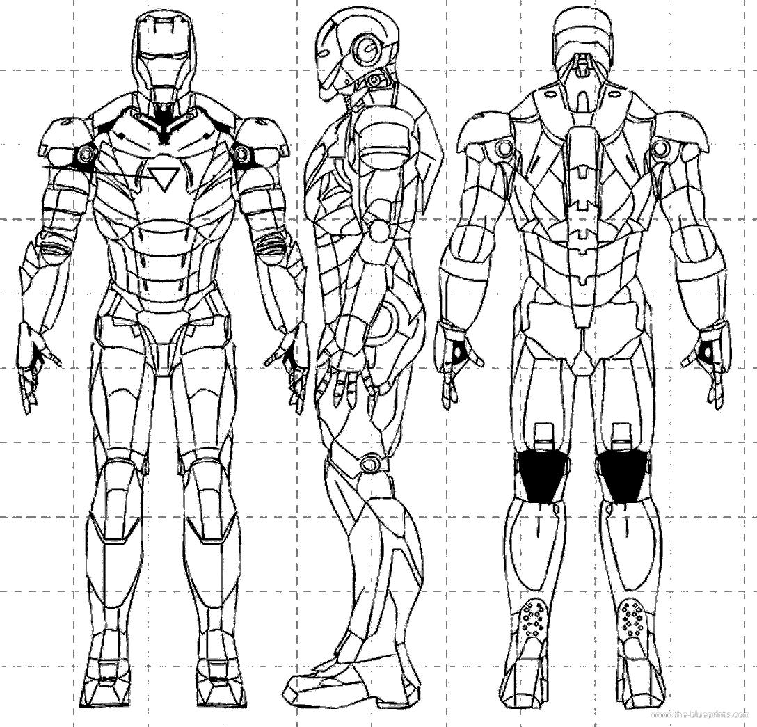 Coloriages à Imprimer Iron Man Numéro 16498