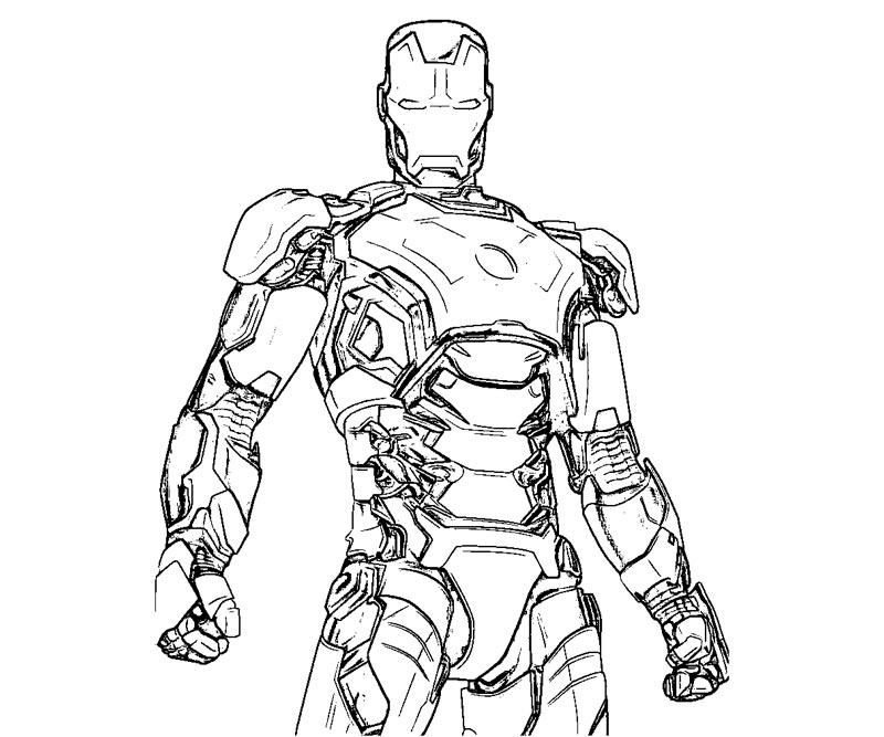 Coloriages à Imprimer Iron Man Numéro 501175