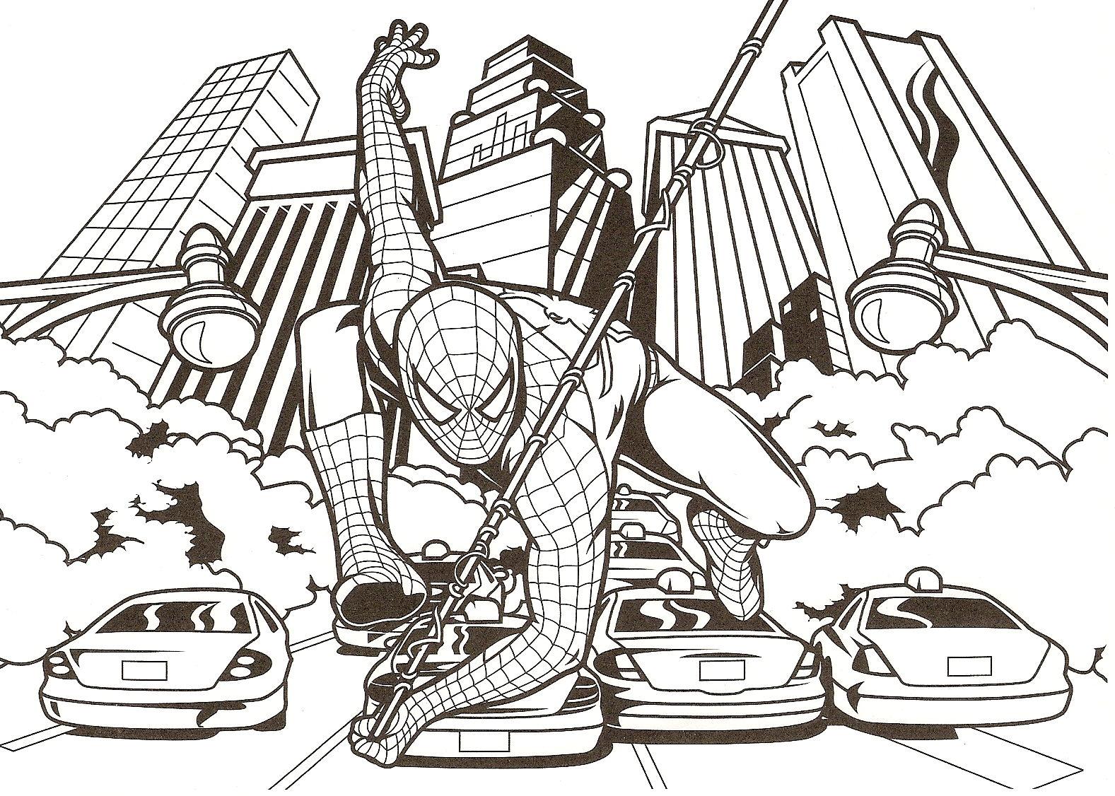 Dessins En Couleurs A Imprimer Spiderman Numero 20455