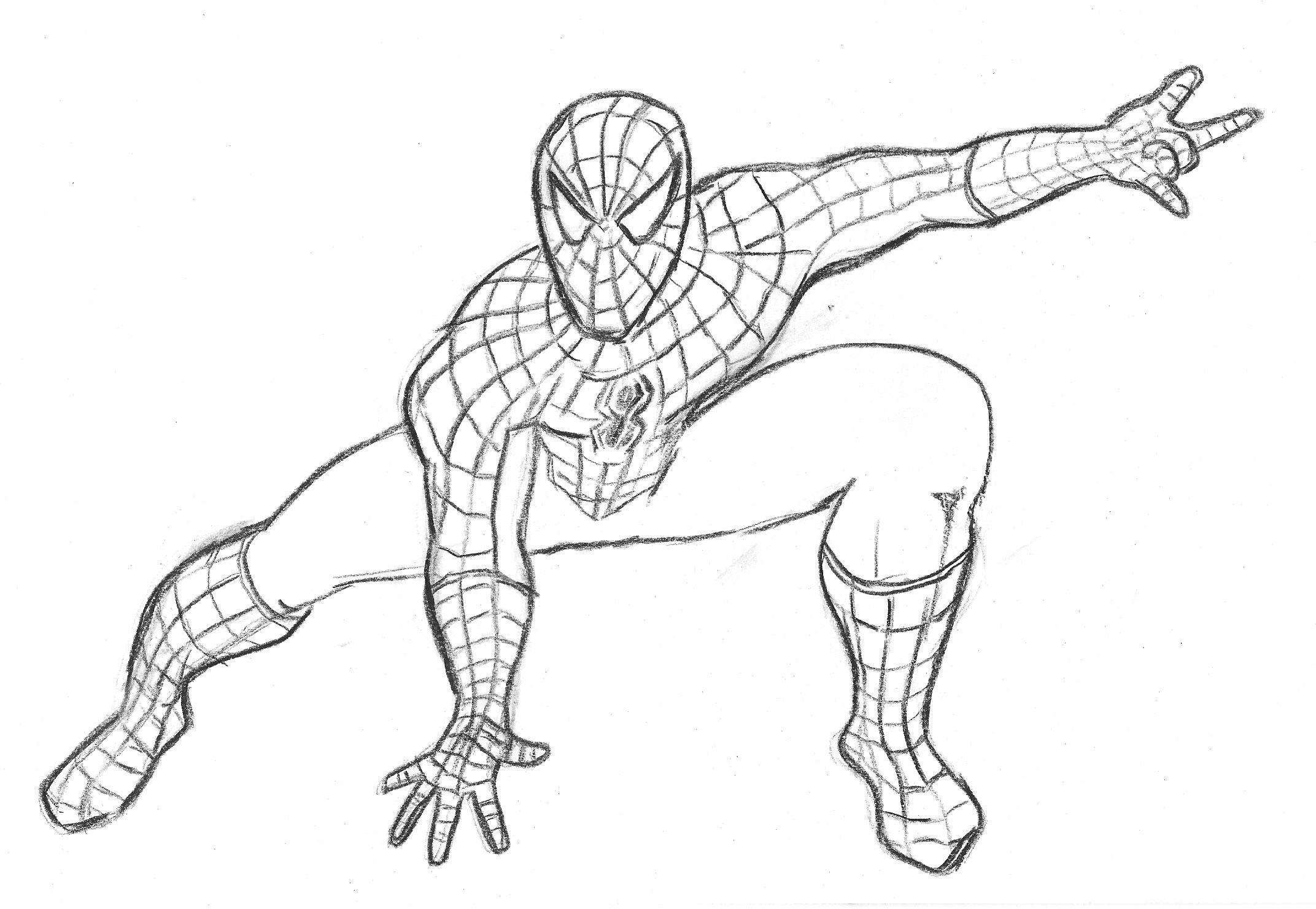 Coloriages A Imprimer Spiderman Numero 61272