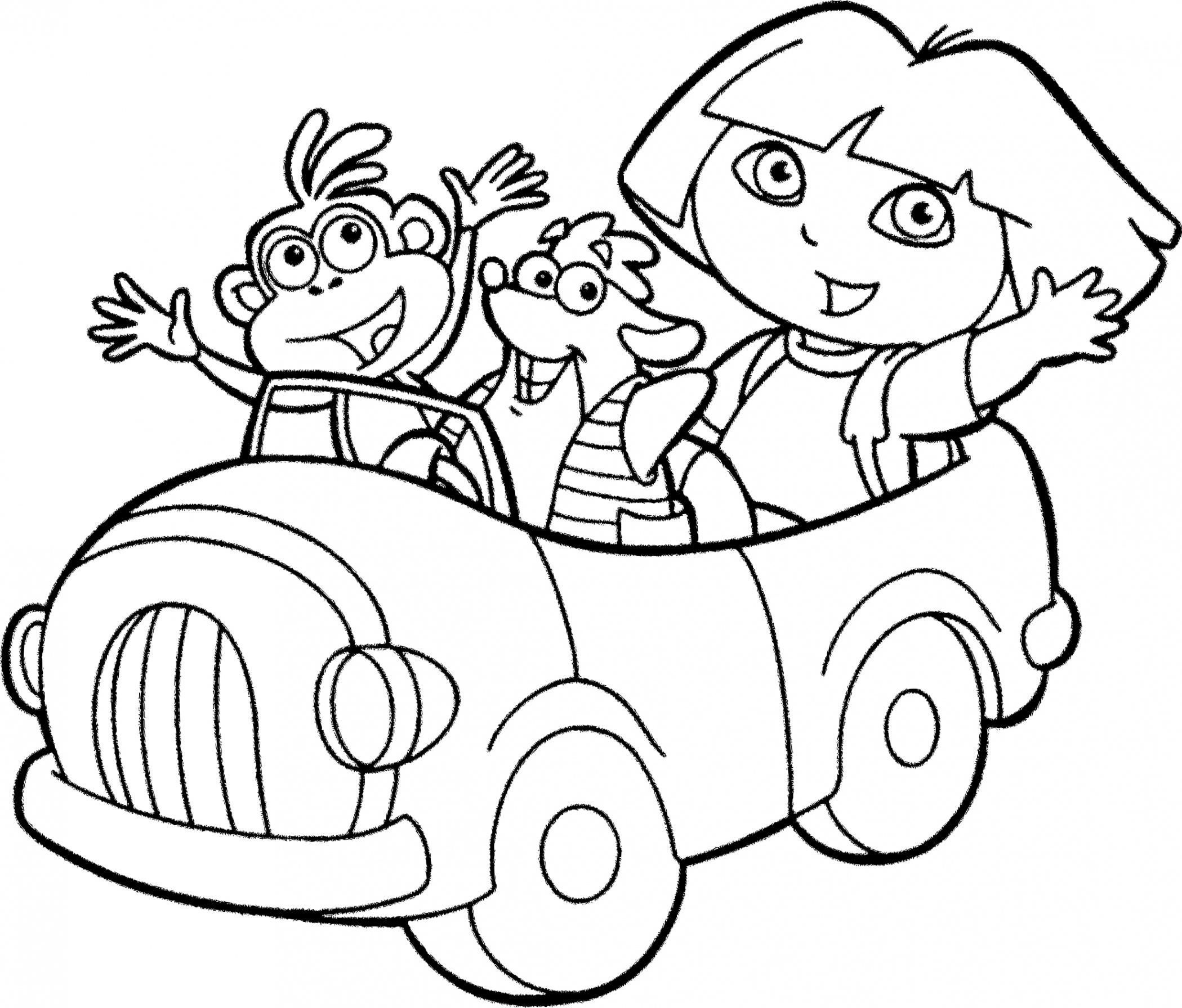 Coloriages à imprimer : Dora, numéro : 1e2b4d5e