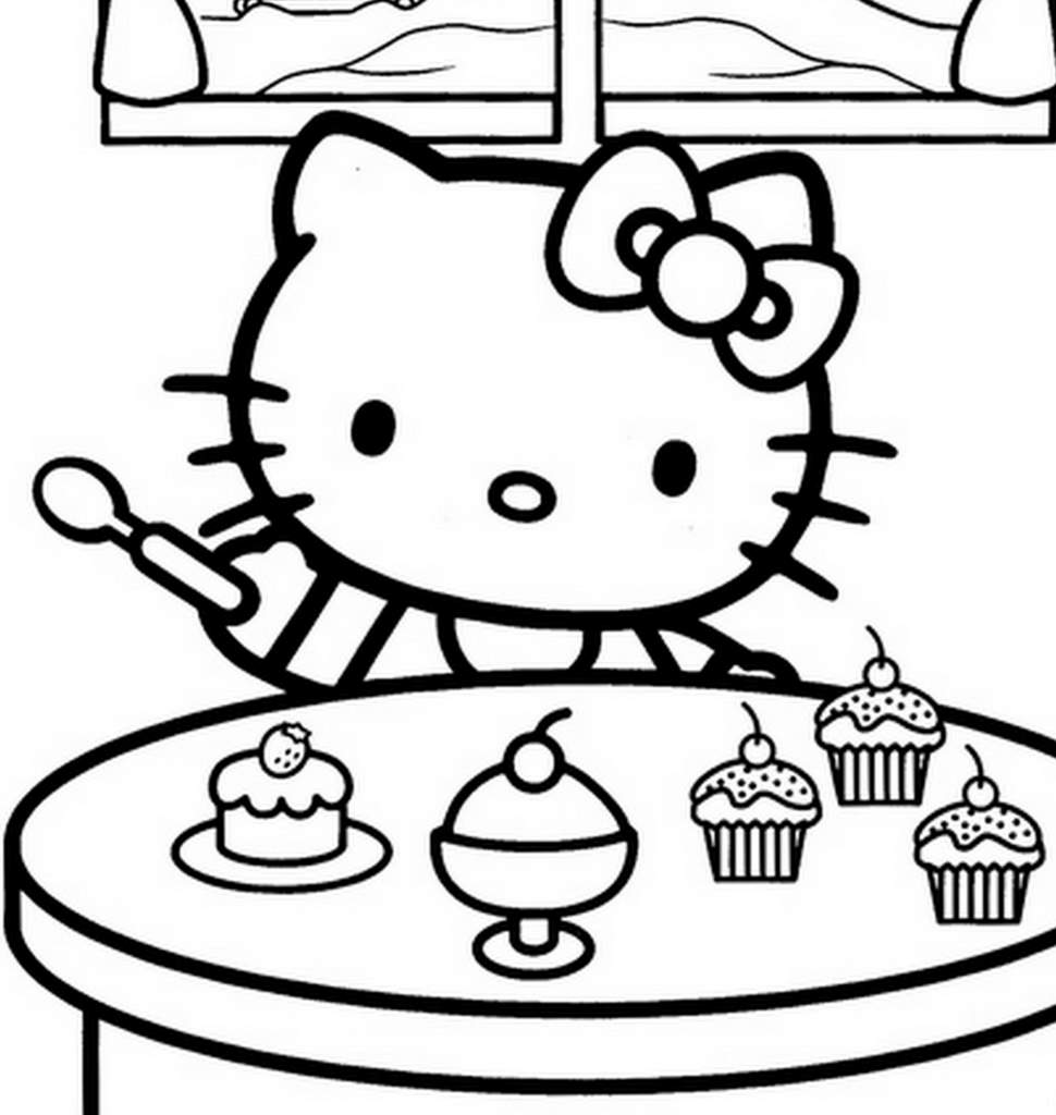 Coloriages à imprimer : Hello Kitty, numéro : 17749
